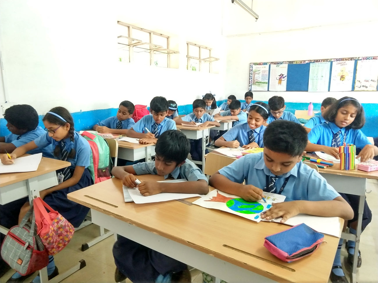 Drawing & Essay - 2019 - 20 - Airforce School Yelahanka