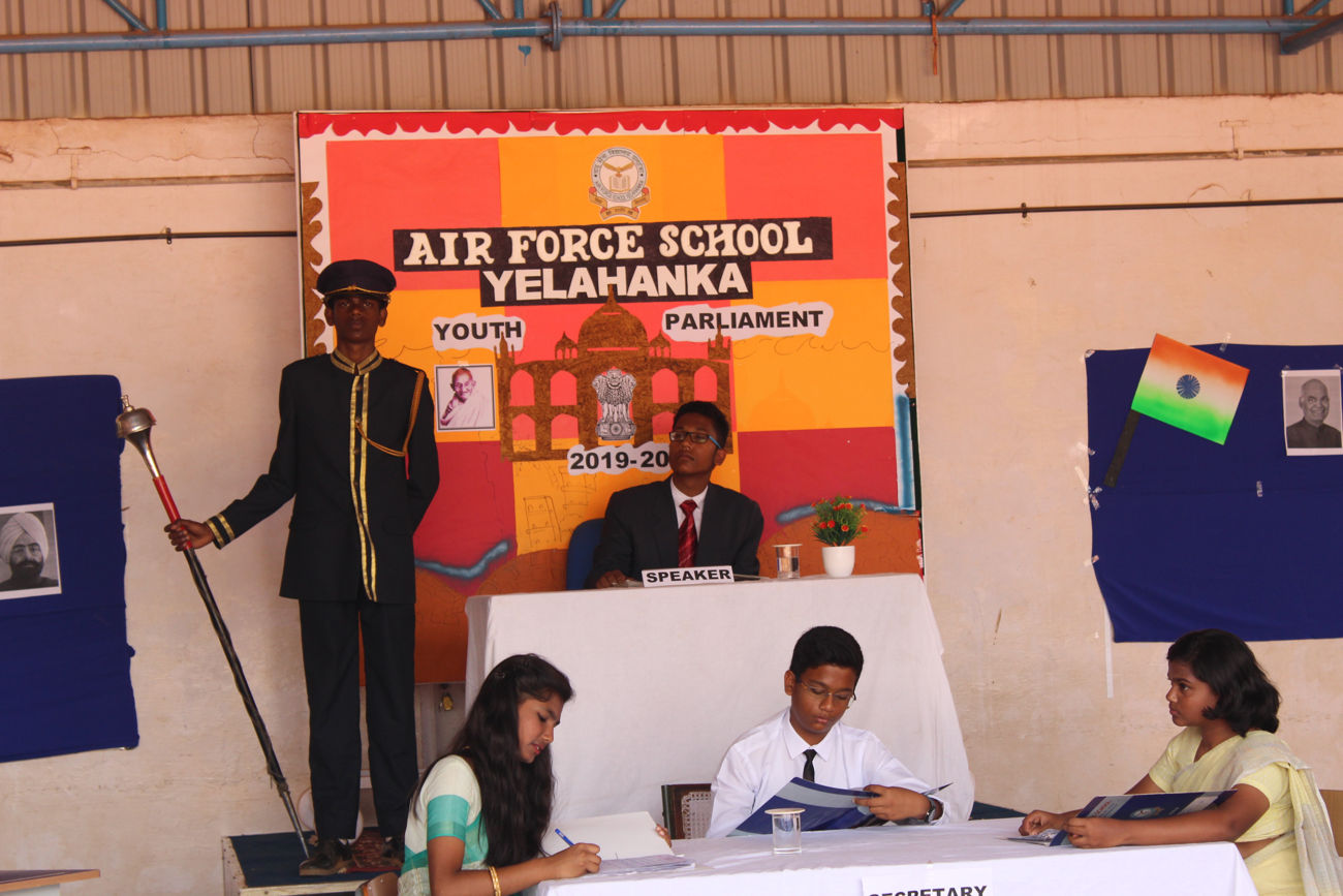 YOUTH PARLIAMENT 2019 - 20 - Airforce School Yelahanka